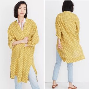 Madewell L7862 Yellow Floral Print Robe Jacket